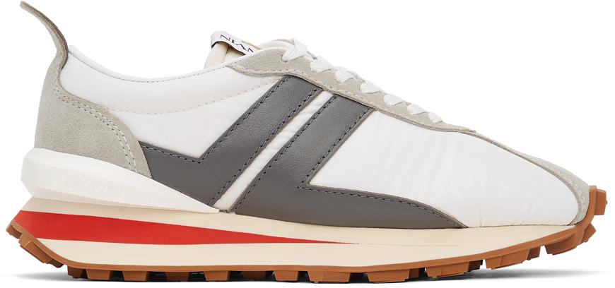 White & Grey Bumpr Sneakers