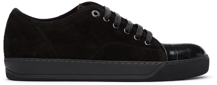 Black Suede & Croc DBB1 Sneakers