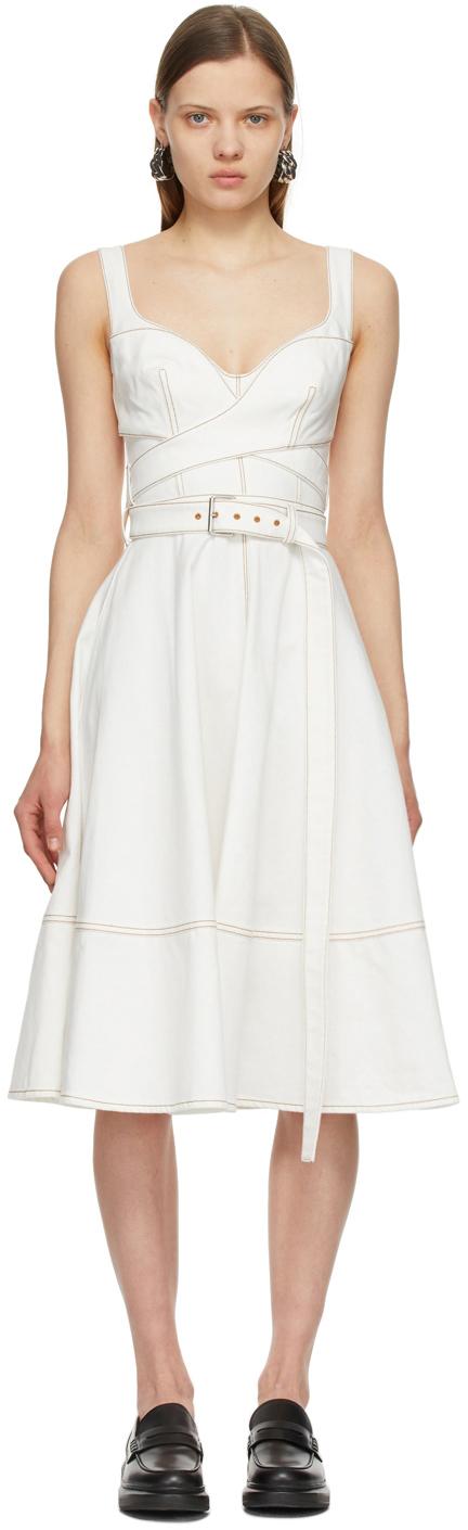 Alexander McQueen オフホワイト '50s デニム ドレス