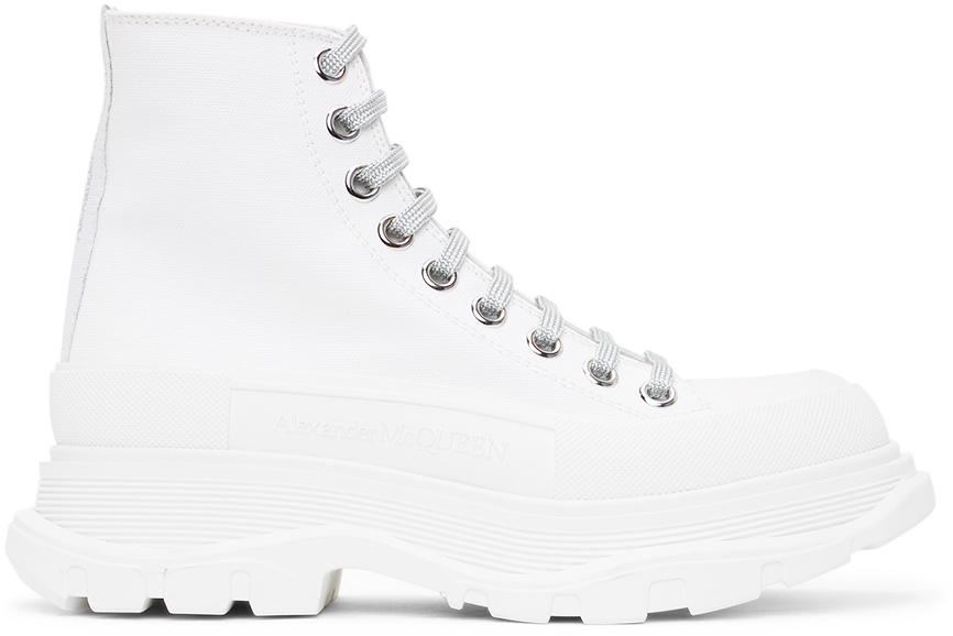 Alexander McQueen White Tread Slick Sneakers