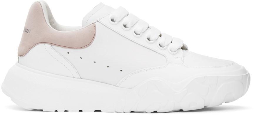 Alexander McQueen White & Pink Runner Sneakers