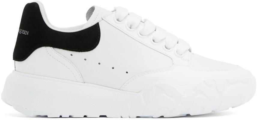 Alexander McQueen White & Black Runner Sneakers
