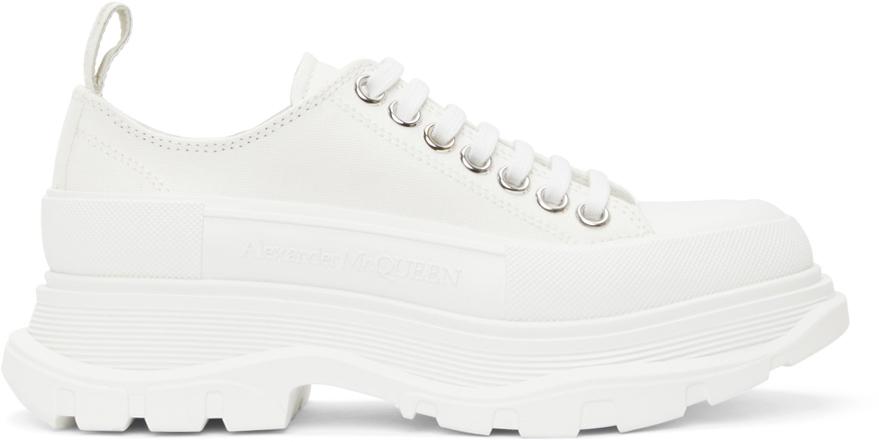 Alexander McQueen White Tread Slick Low Sneakers