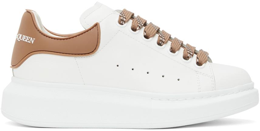 Alexander McQueen White & Beige TPU Oversized Sneakers