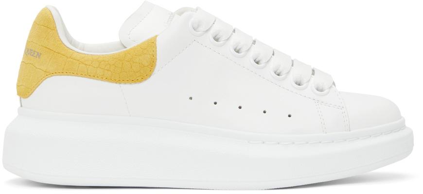 Alexander McQueen White & Yellow Snake Oversized Sneakers