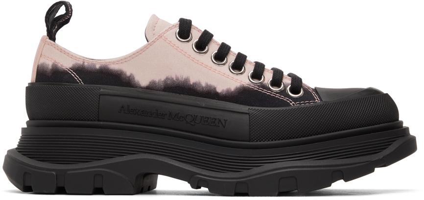 Alexander McQueen Black & Pink Dipped Tread Slick Low Sneakers