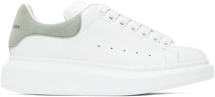 Alexander McQueen SSENSE Exclusive White & Grey Oversized Sneakers