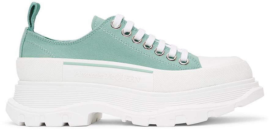 Alexander McQueen SSENSE Exclusive Green Tread Slick Sneakers