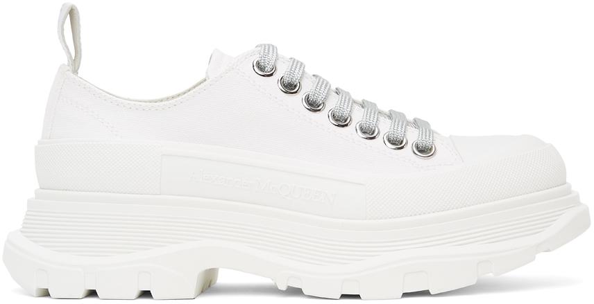 Alexander McQueen SSENSE Exclusive White Tread Slick Sneakers