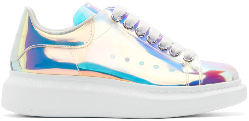 Alexander McQueen SSENSE Exclusive Multicolor Holographic Oversized Sneakers