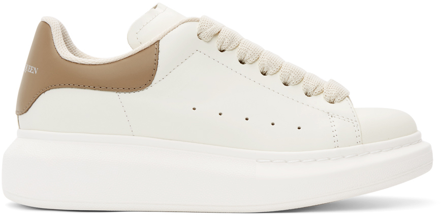 Alexander McQueen Off-White & Taupe Oversized Sneakers