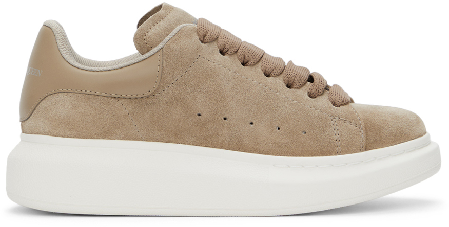 Alexander McQueen Beige Suede Oversized Sneakers
