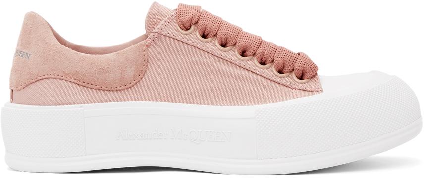 Alexander McQueen Pink Deck Plimsoll Sneakers