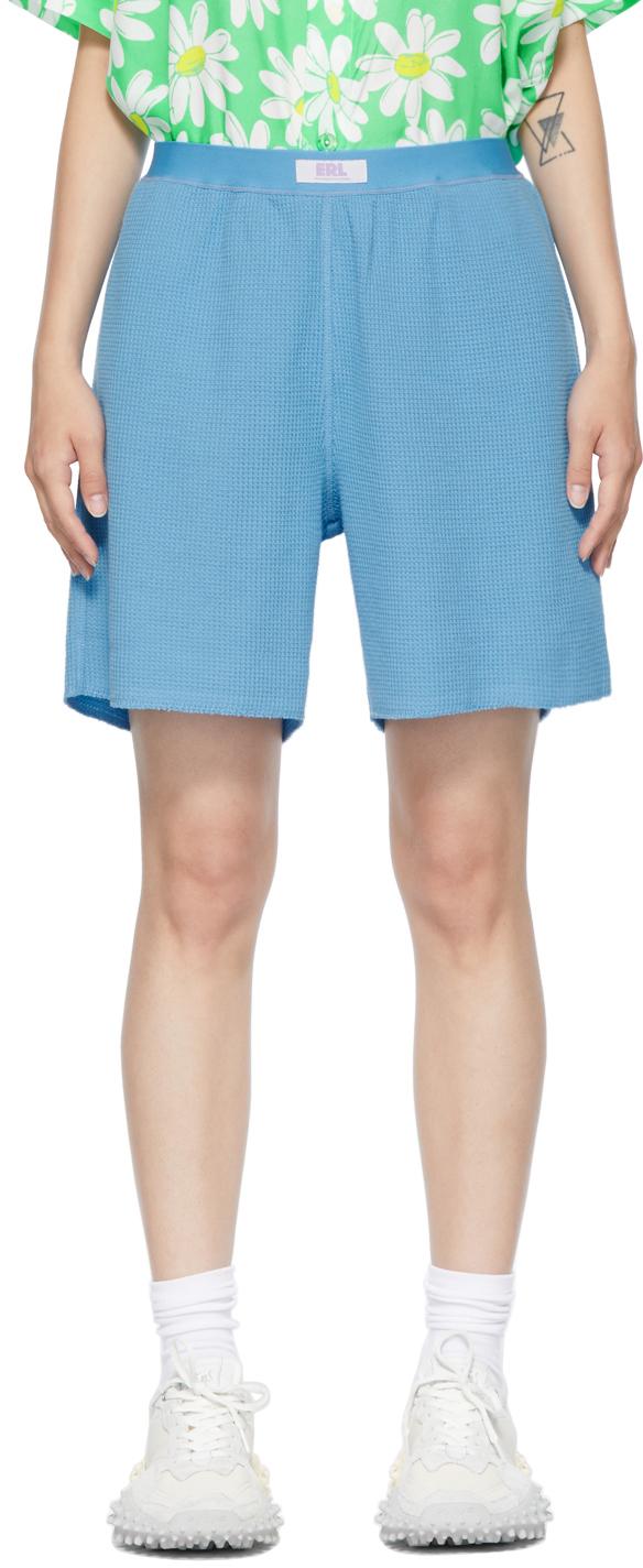 Blue Waffle Shorts