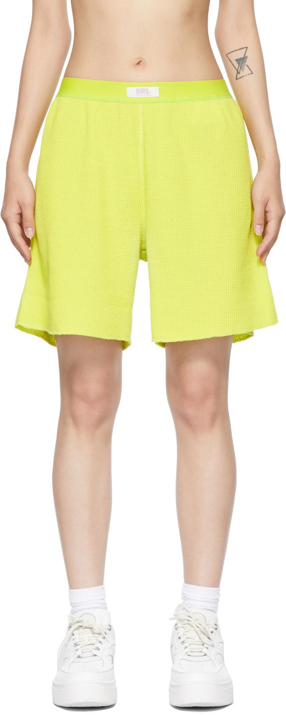 Yellow Waffle Shorts