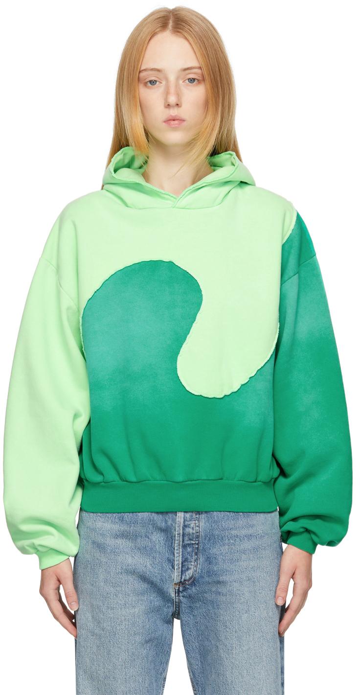 Green Spiral Hoodie