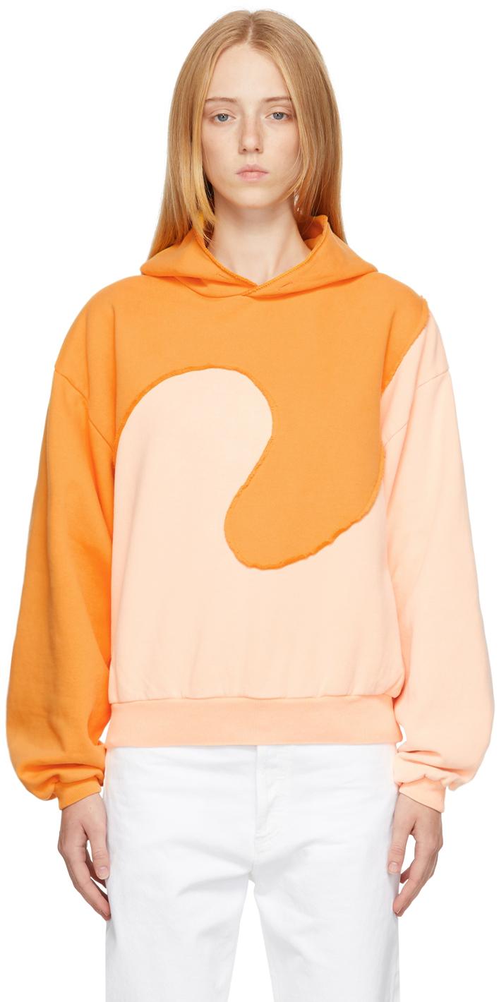 Orange Spiral Hoodie