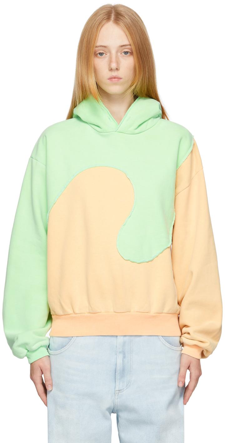 Orange & Green Spiral Hoodie