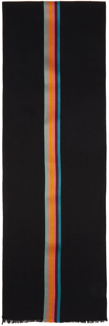 Black Artist Stripe Scarf