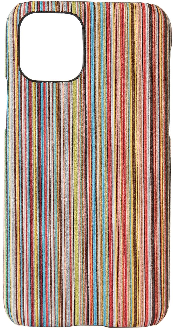Multicolor Signature Stripe iPhone 11 Pro Case