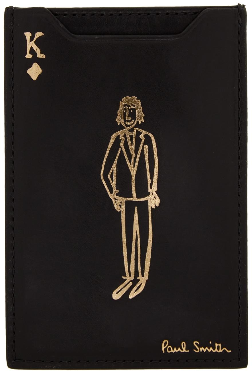 Black & Gold 'K' No.9 Pivot Card Holder