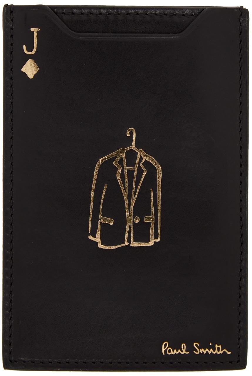 Black & Gold 'J' No.9 Pivot Card Holder