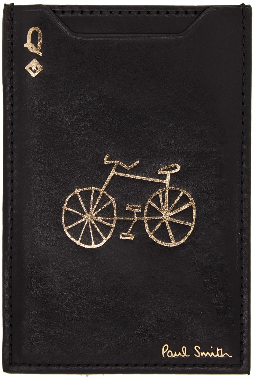 Black & Gold 'Q' No.9 Pivot Card Holder