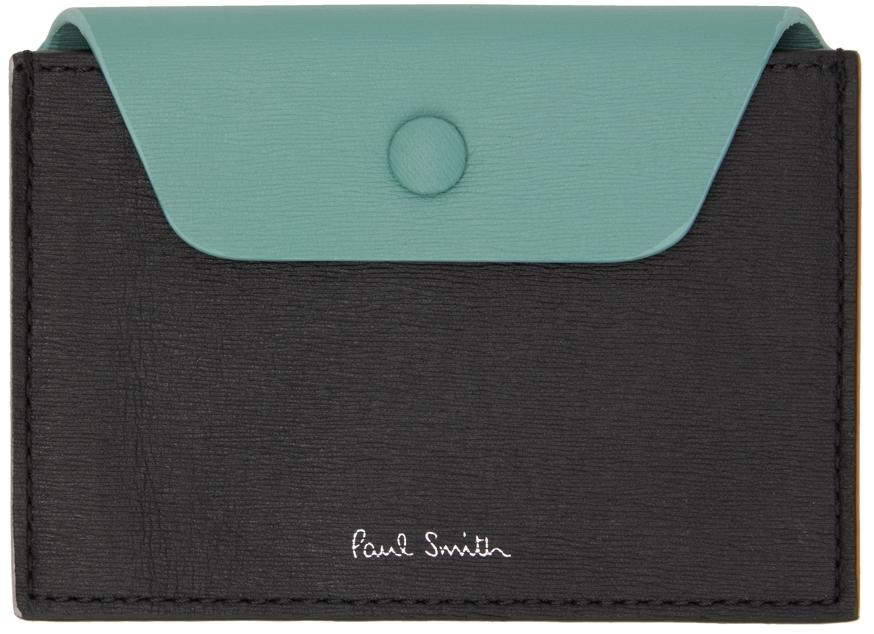 Black & Green Concertina Card Holder