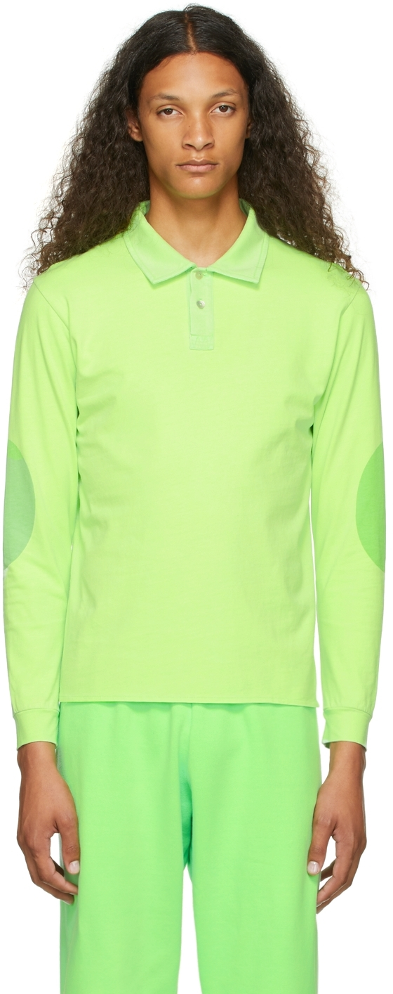 Green Rugby Long Sleeve Polo