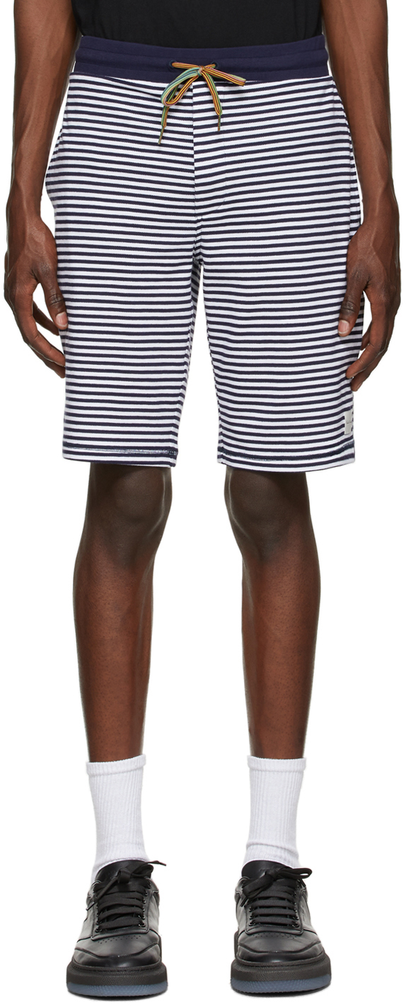 Navy & White Stripe Jersey Lounge Pants