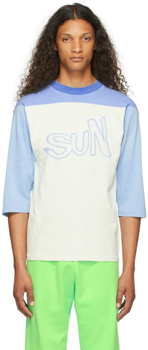 Blue 'Sun' Football Jersey T-Shirt
