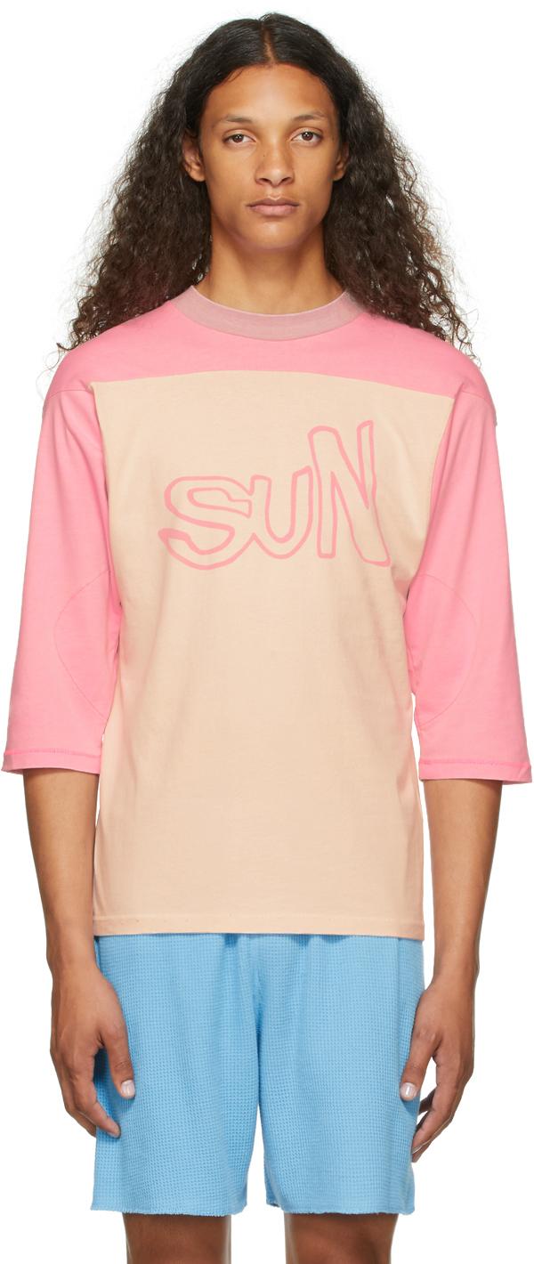 Pink 'Sun' Football Jersey T-Shirt