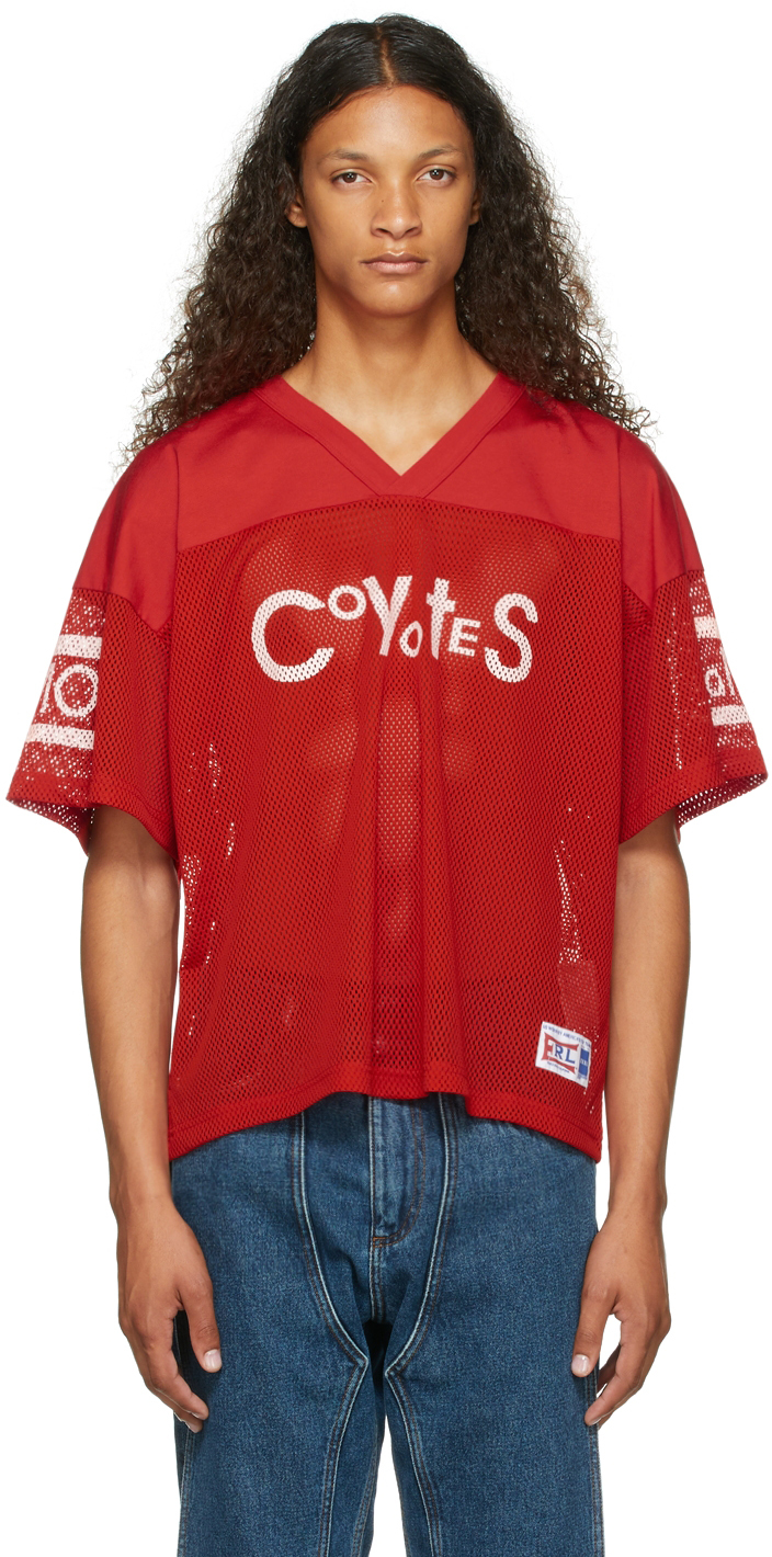 Red 'Coyotes' Football T-Shrit