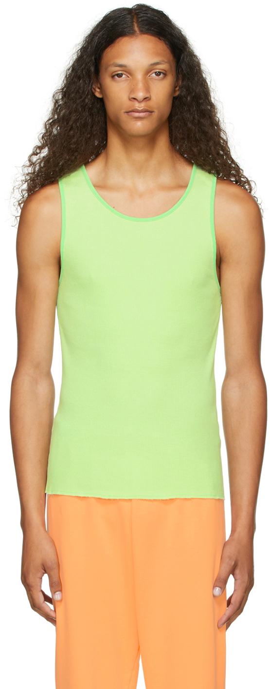 Green Rib Knit Tank Top