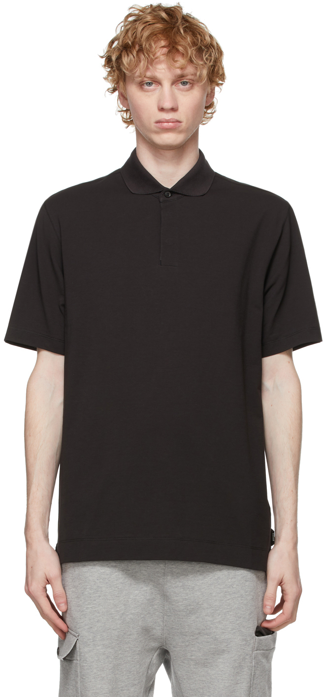 Z Zegna ブラック ポロシャツ