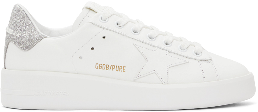 White & Silver Purestar Sneakers