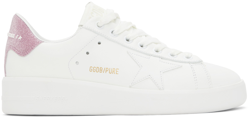 White & Pink Purestar Sneakers