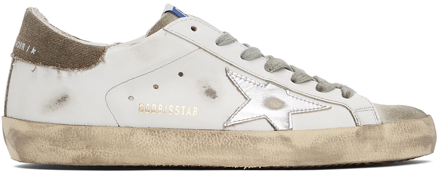 White & Grey Superstar Sneakers