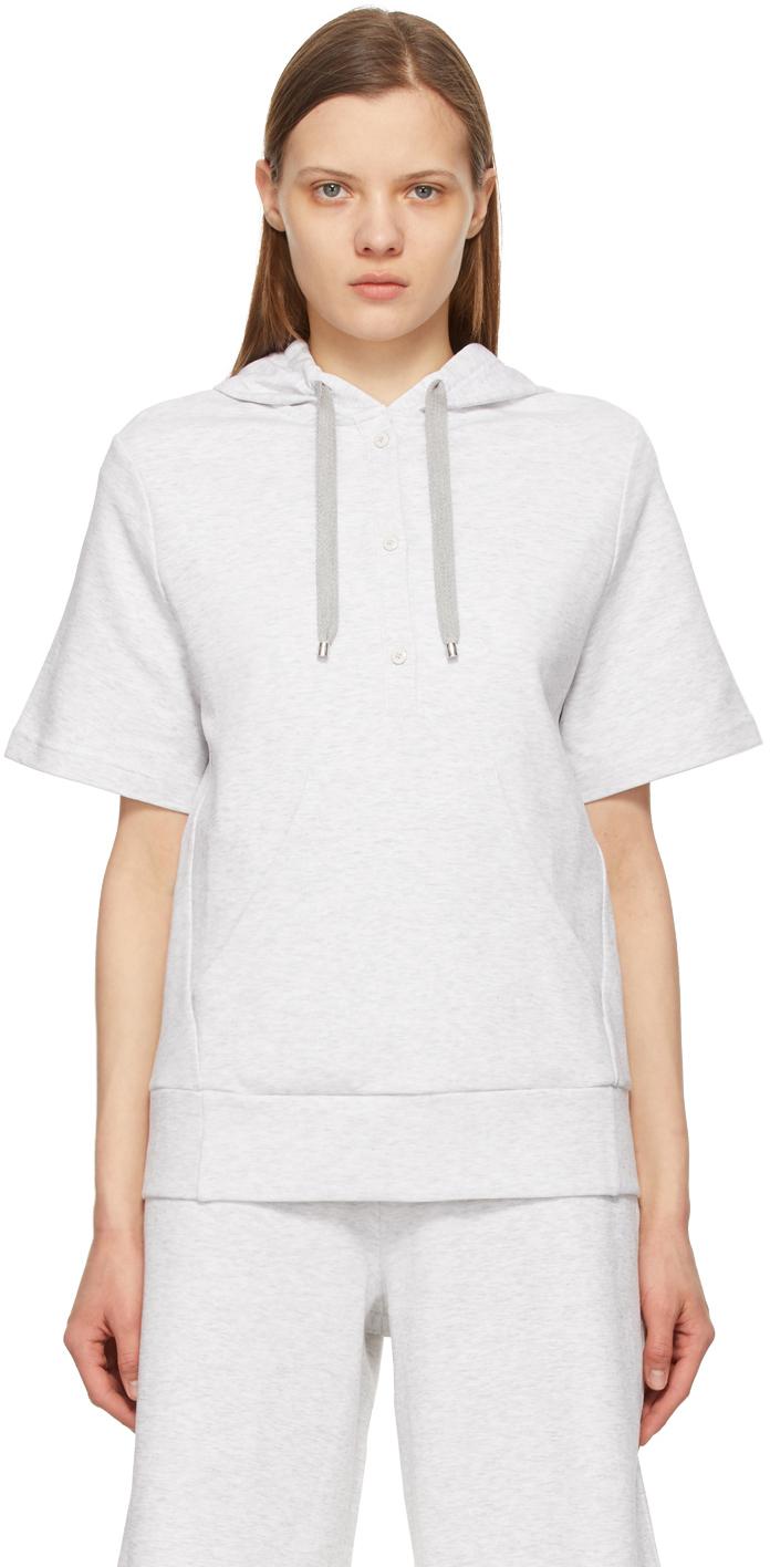 Grey Milford Short Sleeve Hoodie