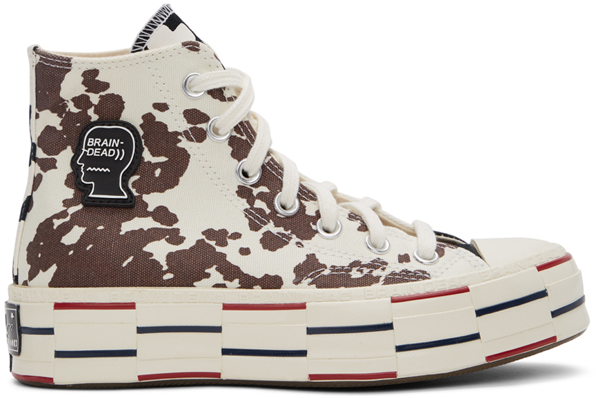 Off-White & Black Converse Edition Cow Chuck 70 High Sneakers