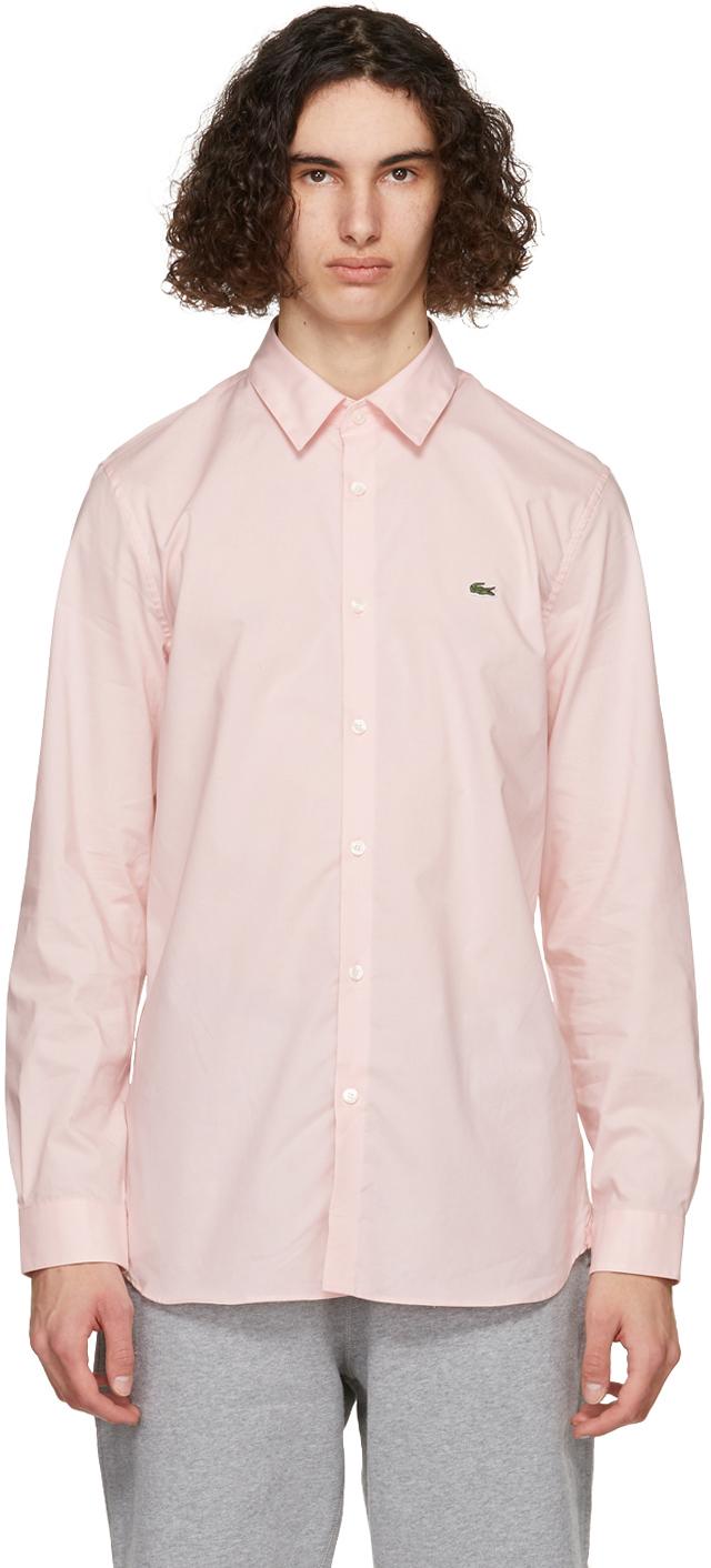 Pink Stretch Slim Fit Shirt