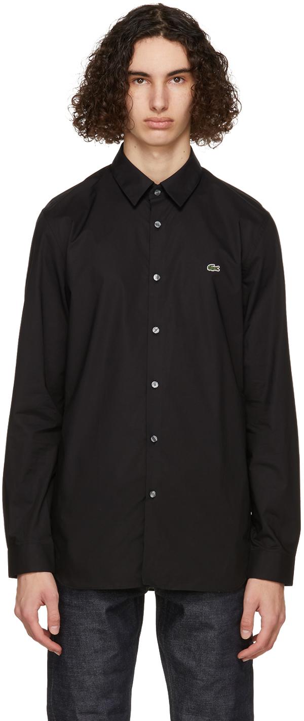 Black Stretch Slim Fit Shirt