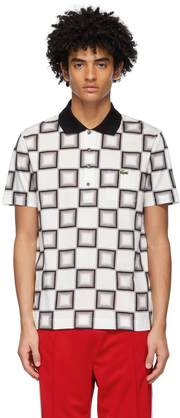White & Grey Ricky Regal Edition Pattern Polo