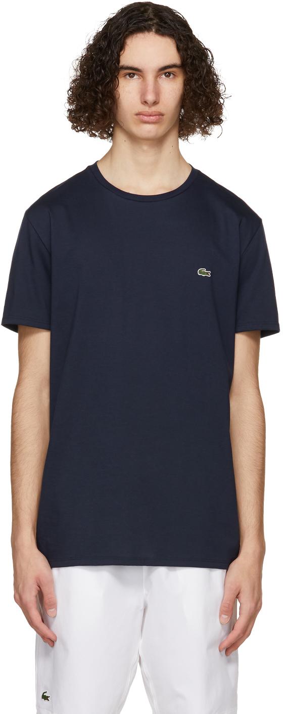 Navy Pima Cotton T-Shirt