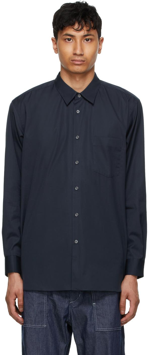 Comme des Garçons Shirt Navy Poplin Forever Shirt