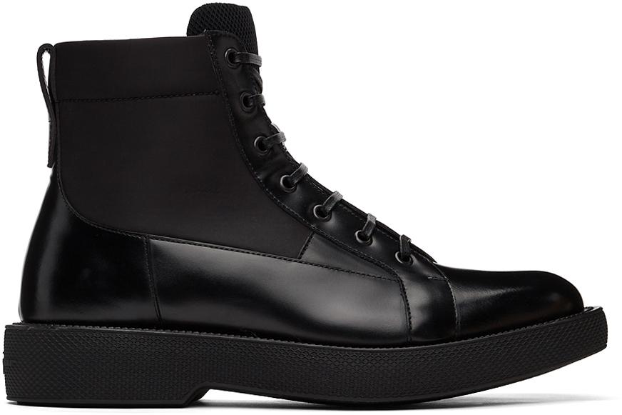 Salvatore Ferragamo 黑色 Combact ECONYL 踝靴