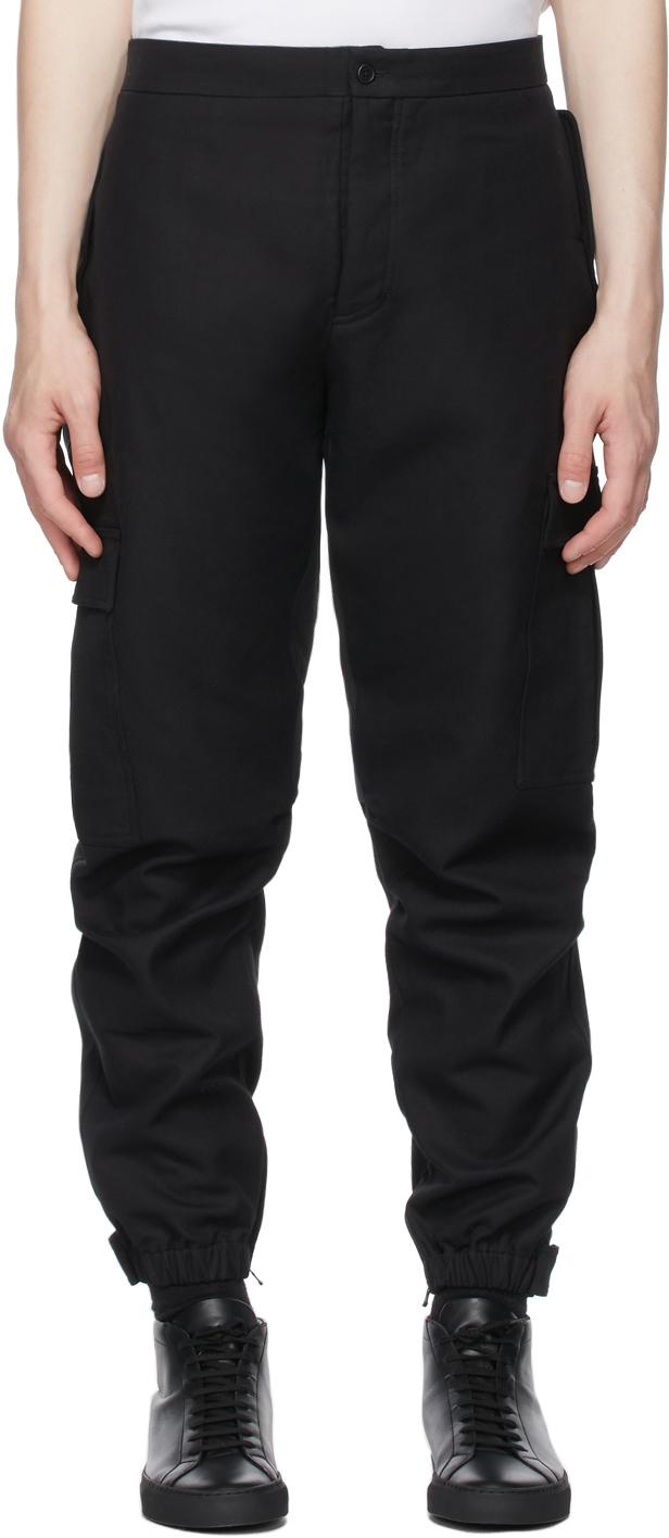 WARDROBE. NYC Black Cotton Cargo Pants