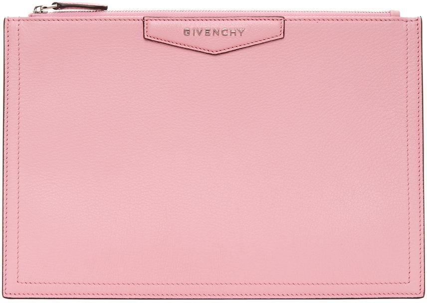 Givenchy 粉色中号 Antigona 手拿包