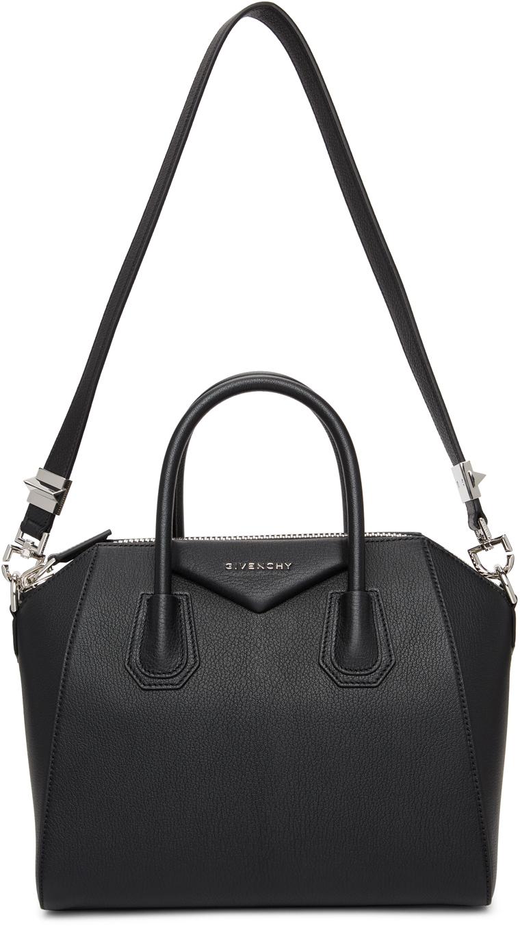 Givenchy Black Grained Small Antigona Bag