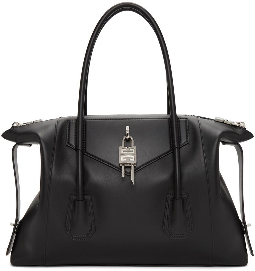 Black Medium Antigona Soft With Lock Bag